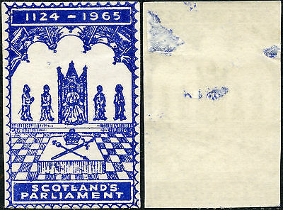 Scotland Parliament 1965 Commemorative Label Cinderella