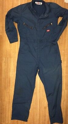 Dickies men's work coverall/overall suit. Dark blue. 44 Tall