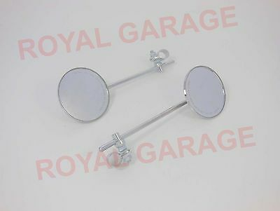 New Royal Enfield Avenger Harley Rear View Mirrors Handle Bar Mount