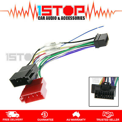 wire harnesses car audio video installation vehicle iso wiring harness for sony xsp n1bt xspn1bt cable connector lead loom plug wire