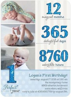 BOYS 1ST BIRTHDAY1 Perfect Year Birthday Party Invitation DIGITAL