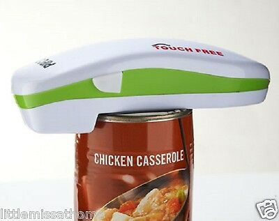 Battery Operated Can Opener * Hands Free Electric Seals Canned Tops Tin Lids