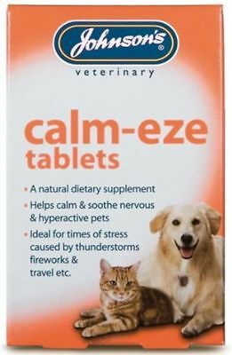 Johnsons Veterinary  Pet Tablets Cat & Dog Health Calm Eze / Travel Eze
