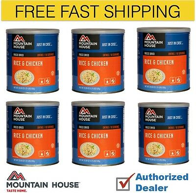 Mountain House Rice and Chicken Case of 6 #10 cans with Free Shipping