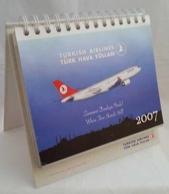 THY TURKISH AIRLINES 2007 DESK CALENDAR Istanbul original company issue