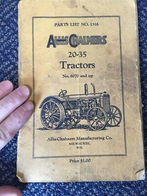 Antique Old Allis-Chalmers Manufacturing Milwaukee Wisconsin Tractor Catalog