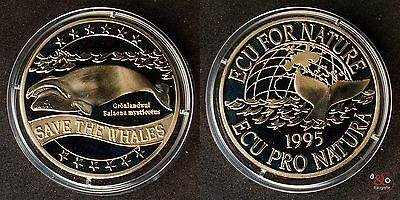ECU - Save the Whales - 1995 - Neusilber, unmagnetisch ca 19g 38mm