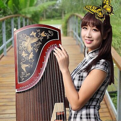 "64"" Traditional Chinese musical instrument Chinese zither Gu Zheng Harp #2805"