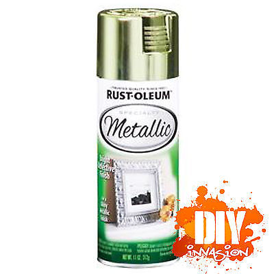 Rust-Oleum Metallic Brass 312g Spray Paint Bright Reflective Finish Arts & Craft