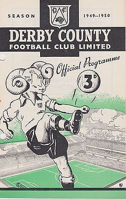 DERBY COUNTY v BURY  RESERVES ~ 10 DECEMBER 1949