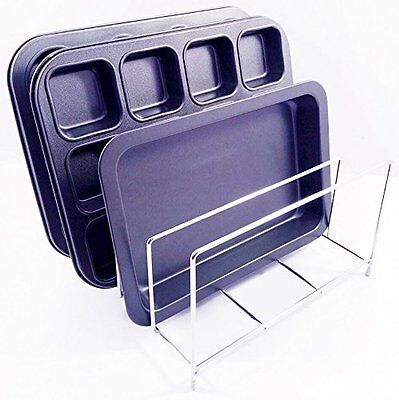 Chrome Bakeware Tidy Storage Rack For Storing up to 8 Baking Bake Trays & Dishes