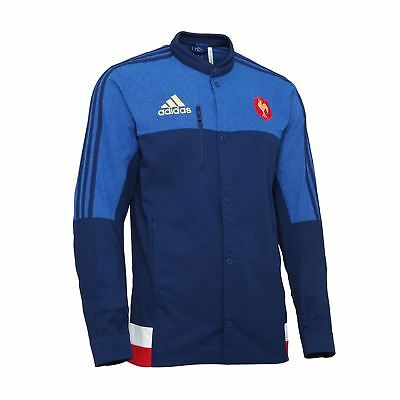 adidas French Rugby Team 2015 Anthem Jacket S07496 Mens~RRP £40~UK S to XL