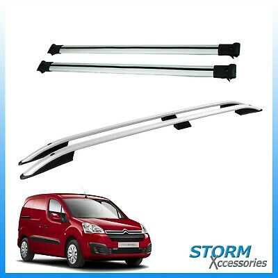 Citroen BERLINGO 2008 onwards STX Aluminium Roof Bars + Cross Rails Set - SWB