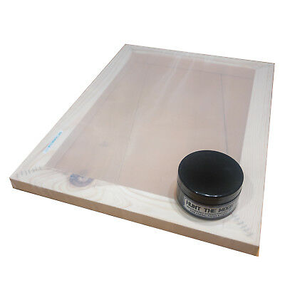 Medium A4 Silk Screen Printing Frame Kit 32T 43T 55T 77T 90T 120T Mesh 100ml Ink