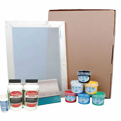 Hunt The Moon Screen Printing Kit Frame Squeegee Ink & Speedball Photo Emulsion