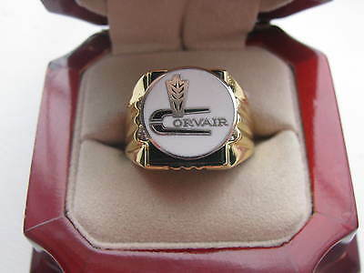"""Superb NEW! Gold Mens """"Corvair"""" Crest Ring"""