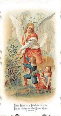 "OLD nice german rare  Holycards from 1910""H3317""guardin angel"