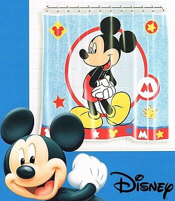 Mickey Mouse Waterproof Bathroom Standard Bath Shower Curtain with 12 Rings 1305