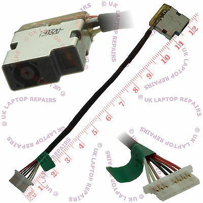 HP 799736-F57 813945-001 DC-IN Power Jack Cable Connector Harness Wire