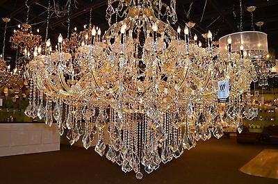 "Maria Theresa 49 Light GOLD Crystal Chandelier 72""W x 60""H Wide Large Two 2 Tier"