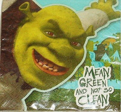 ~Shrek Forever After ~~~16--Dessert Small  Napkins Party Supplies