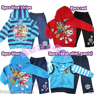 Paw Patrol rescue boys kids tracksuits zip hoodie fleece winter outfit size 2-5