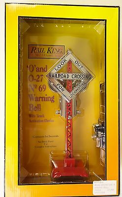 """Rail King By Mth #rk-1036 """"look Out For Locomotive"""" #69 Warning Bell-Mib!"""