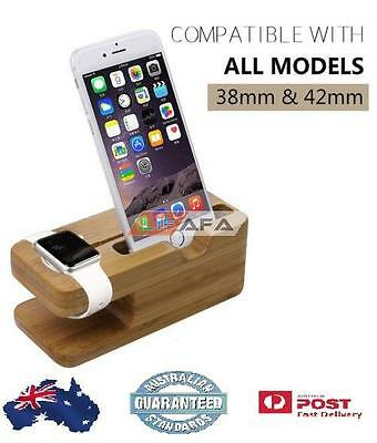 Bamboo Charging Dock Station Stand Holder for Apple Watch & iPhone | LiFaFa