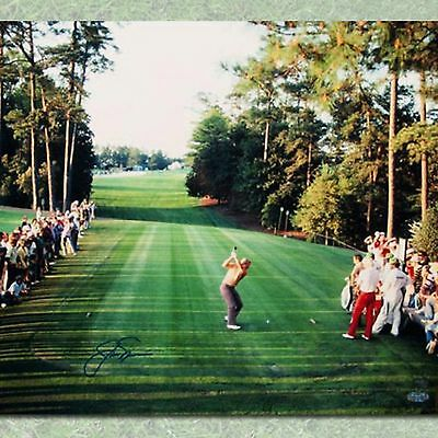 Jack Nicklaus Autographed 1986 Masters 18th Hole Tee Shot 16x20 Photo-AJ Sports