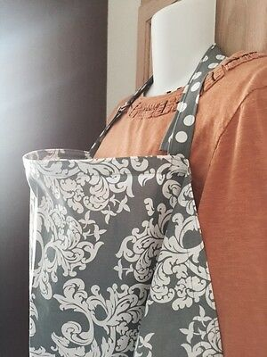 NURSING COVER like HOOTER hider* BREASTFEEDING COVER gray scroll