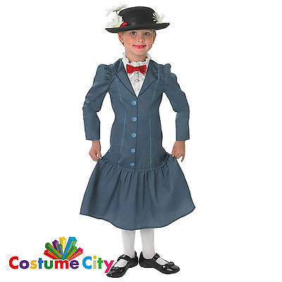 Childrens Girls Disney Official Mary Poppins Fancy Dress Party Book Day Costume