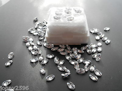 5x3mm oval white cubic zirconia 6 stones for £1.00