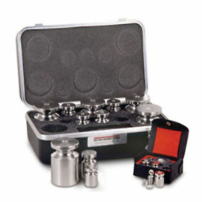 Calibration Test Weight Kit 2Kg - 1g Class F NIST Traceable Stainless Rice Lake