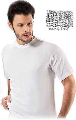 Quality Men's 100% Ribbed Cotton Undershirt Classic Crew Neck Shirt from Turkey