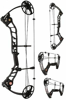 """Kinetic Rave Dual Cam Compound Bow (Balck) RH 20-55lb weight, 19-30"""" draw"""