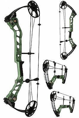 """Kinetic Rave Dual Cam Compound Bow (Green) RH 20-55lb weight, 19-30"""" draw"""
