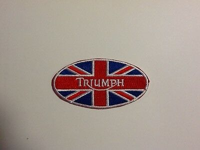 Triumph Automobile Motorcycle Car Hat Jacket Shirt Embroidered Iron On Patch