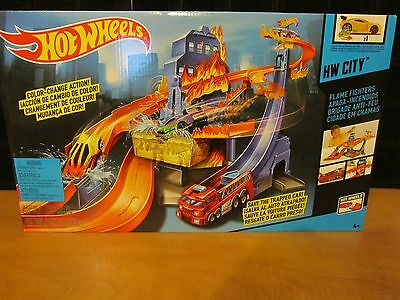 Hot Wheels City Color Shifters FLAME FIGHTERS Set /1 CAR INCLUDED ONLY 6 LEFT