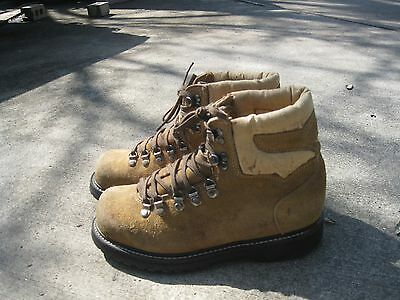Vintage Brown Leather GAURDIAN INDUSTRIAL STEEL TOE Distressed ANKLE BOOTS 7.5 E