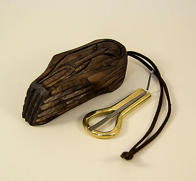 Handmade Altay khomus (Jew's harp) by Pavel Potkin with wooden cover Shaman