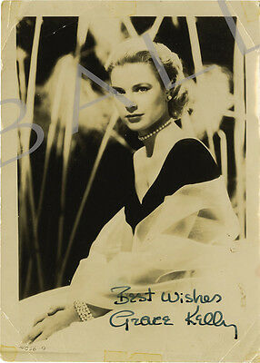 Grace Kelly Signed 10X8 Photo, Great Studio Film Image, Looks Great Framed