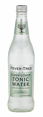 Fever-Tree Elderflower Tonic Water 16.9 Ounce Glass Bottles (Pack of 8)