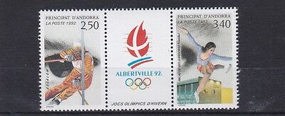 French Andorra  1992  S G F456 - 57  Winter Olympics      M /  N / H