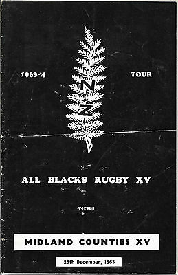 1963 - Midlands Counties v New Zealand, Touring Match Programme.