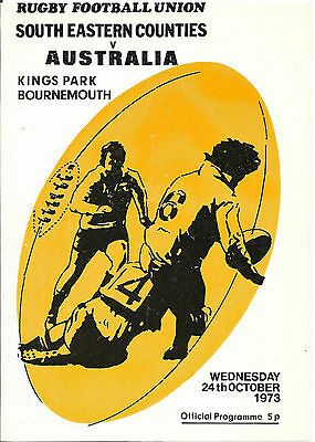 1973 - South Eastern Counties v Australia, Touring Match Programme.
