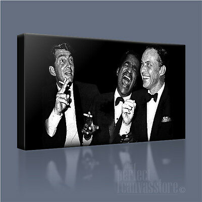 Sinatra The Rat Pack Framed Canvas Art Print Poster American Diner Man Cave