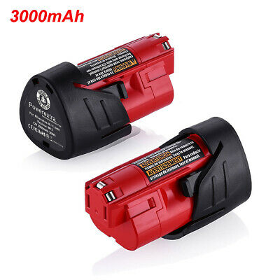 For Milwaukee 48-11-2401 M12 Li-Ion Lithium 12V 12 Volt 2500mAh Battery Pack