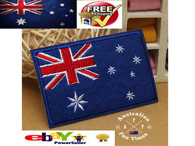 National Australian Australia Flag Sewing On Cloth Patch Embroidered Badge 9x5.5