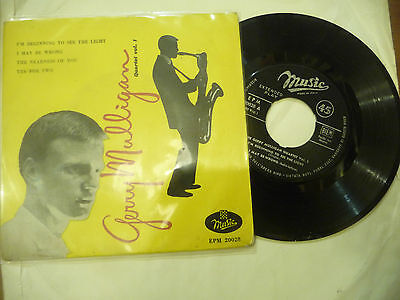 "GERRY MULLIGAN QUAETET VOL 1-Disco 45 giri EP MUSIC Italy 1960"" JAZZ"