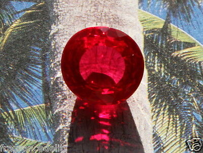 20,10 carats ct Splendide saphir rouge VVS 16mm X 15,1 X 8,7 mm